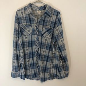 Avenue button down flannel